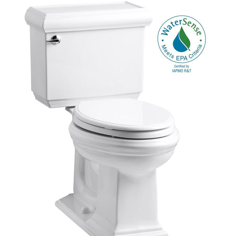 Peachy Kohler Memoirs Classic 2 Piece 1 28 Gpf Single Flush Elongated Toilet With Aquapiston Flush Technology In White Pabps2019 Chair Design Images Pabps2019Com