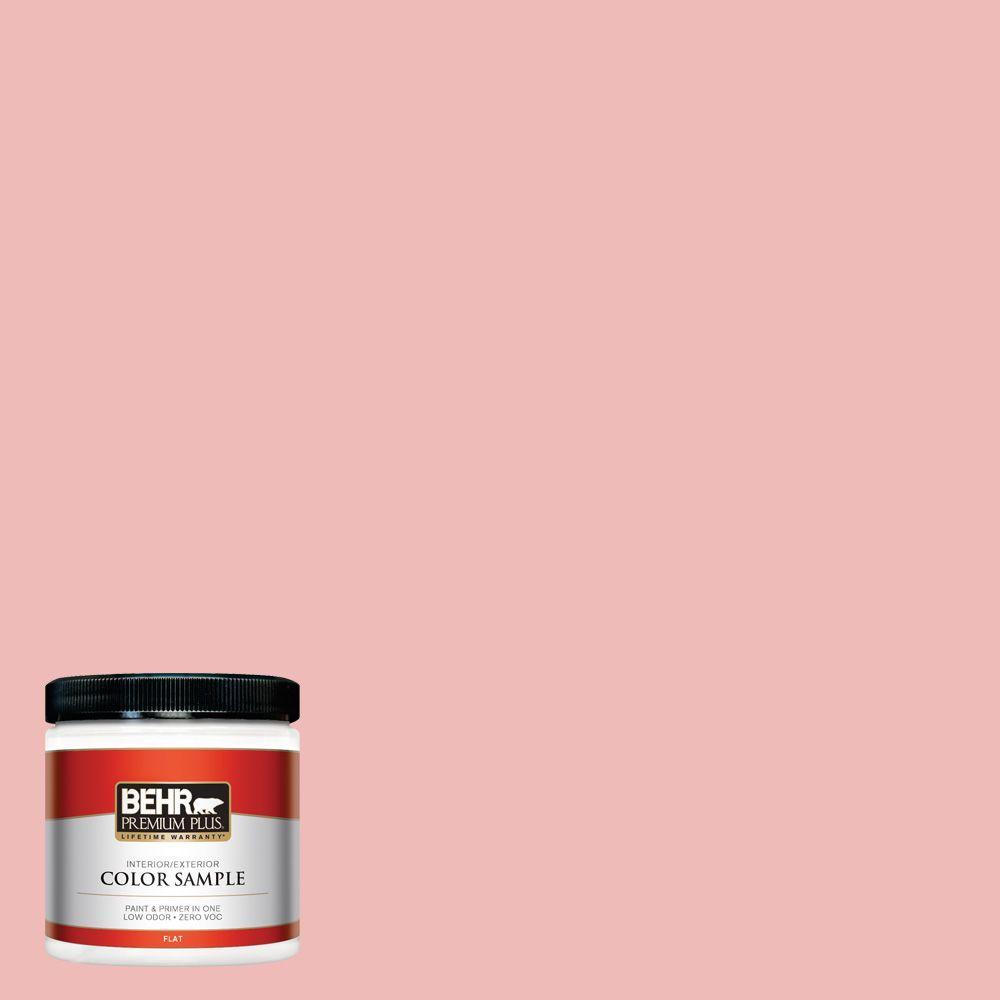 BEHR Premium Plus 8 oz. #BIC-04 Pink Taffy Flat Interior/Exterior ...