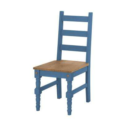 Jay 2-Piece Blue Wash Solid Wood Dining Chair