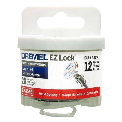 EZ Lock 1-1/2 in. Metal Cut-Off Rotary Wheels for Metal (12-Pack)