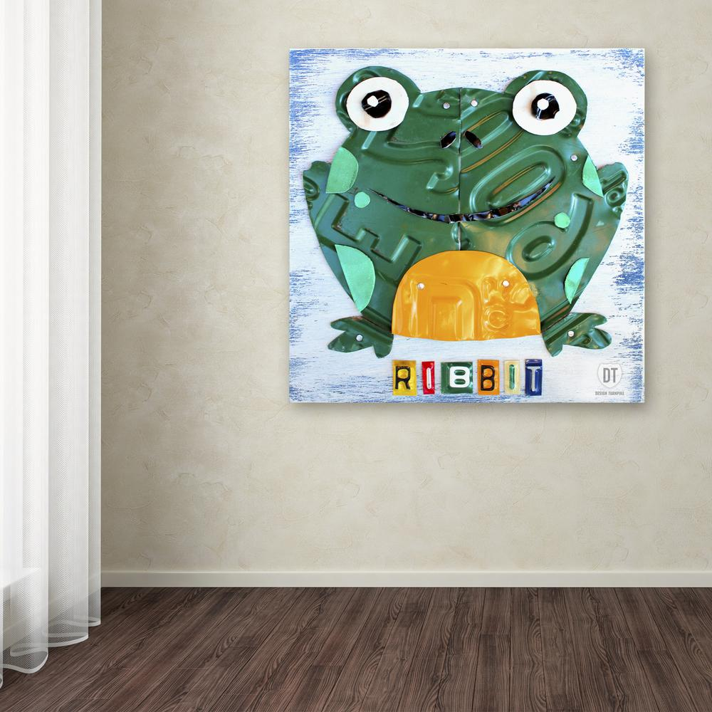 Trademark Fine Art 14 In X Ribbit The Frog By