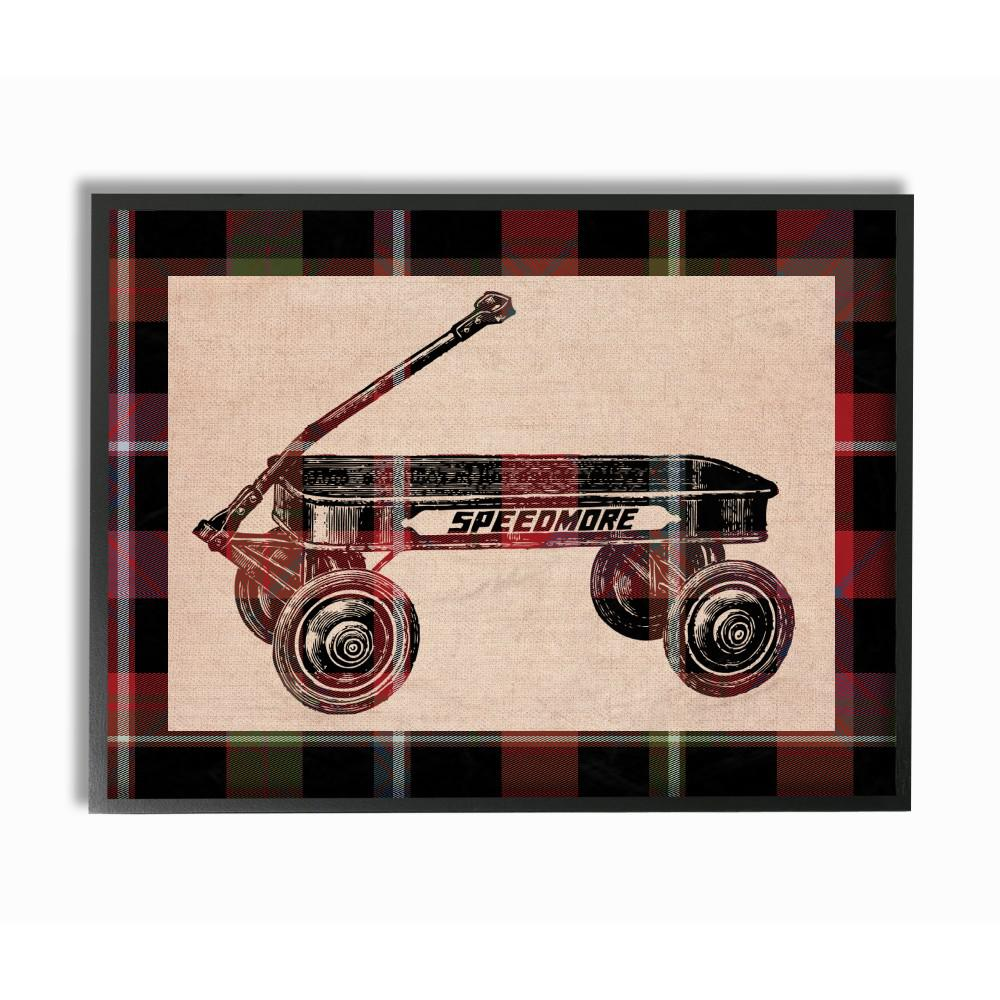 The Stupell Home Decor Collection 11 In X 14 In Radio Flyer Plaid