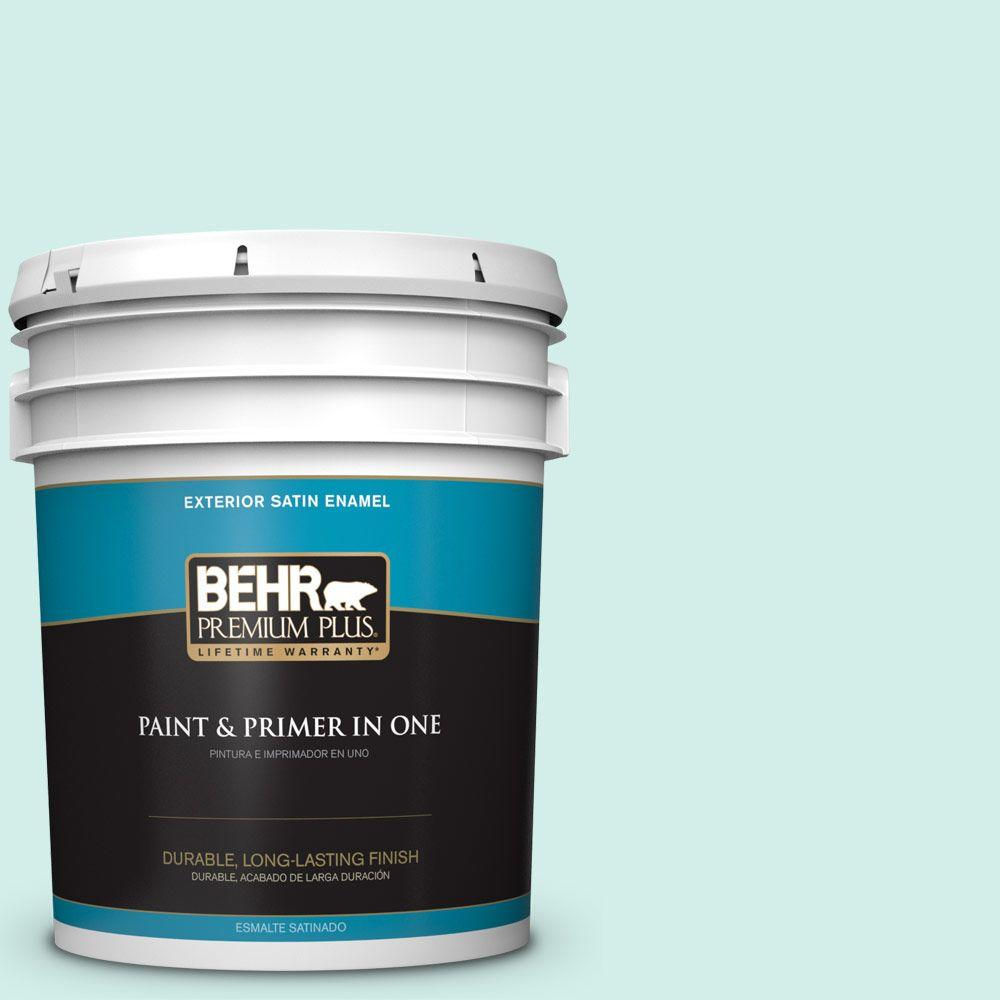 5 gal. #P440-1 Shimmering Pool Satin Enamel Exterior Paint and Primer