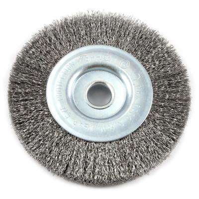 Crimped Wire Wheel Brush, 4 in. x .008 in. Wire with 1/2 in. Arbor