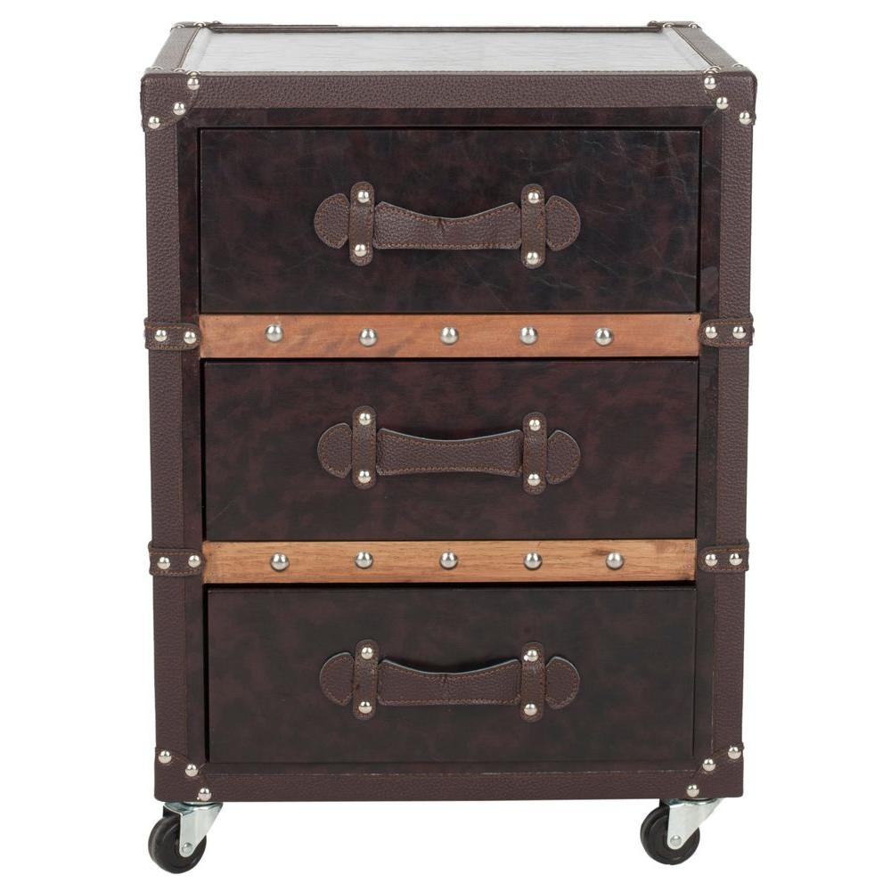 Norman Black and Brown Mobile End Table