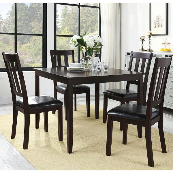 HomeSullivan Madison 5-Piece Brown Extendable Dining Set