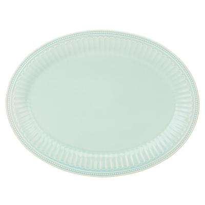 French Perle Groove 16 in. Ice Blue Platter