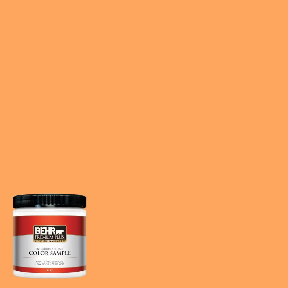 8 oz. #270B-5 Melon Flat Interior/Exterior Paint and Primer in One