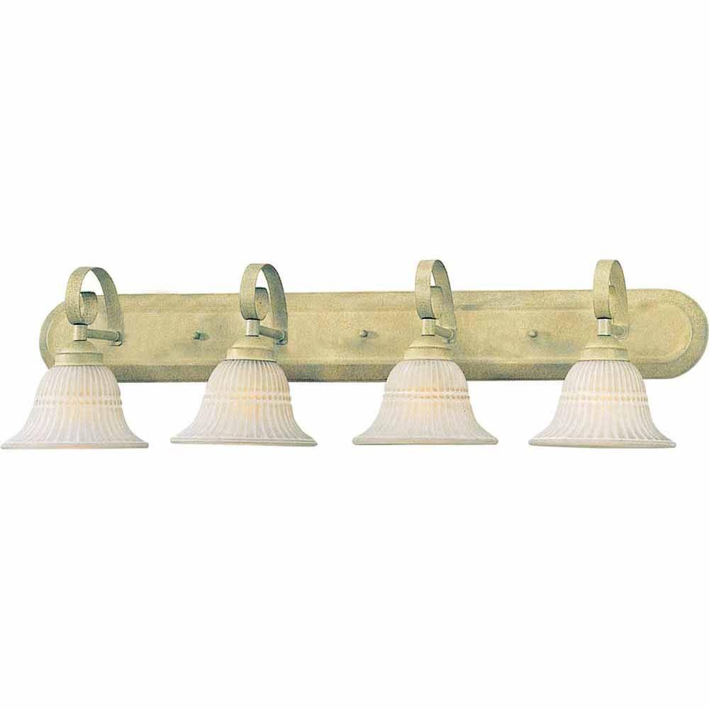 Filament Design Lenor 4-Light Golden Coral Incandescent Bath Vanity Light