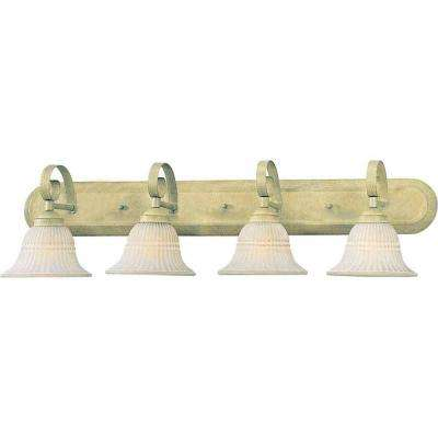 Lenor 4-Light Golden Coral Incandescent Bath Vanity Light