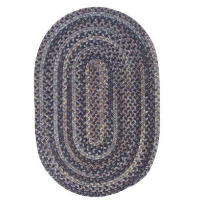 Cage Graphite 3 ft. x 5 ft. Oval Braided Area Rug