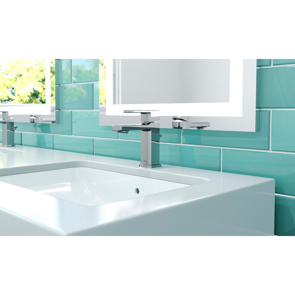 Deckard Single Hole Single-Handle Bathroom Faucet in Polished Chrome