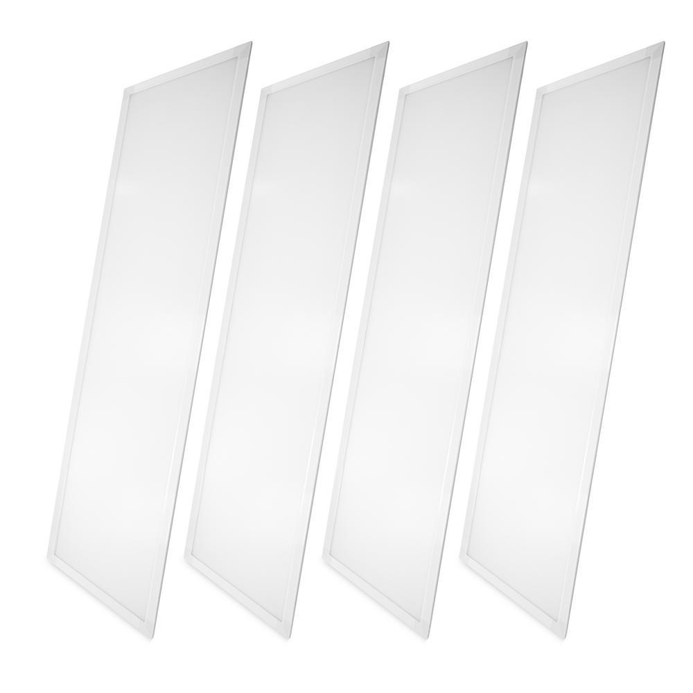 2 ft. x 4 ft. White Integrated LED Dimmable Edge Lit Panel, 5000K (4-Pack)