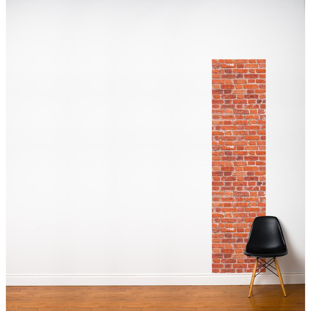 "24 in. x 96 in. Multi-Color ""Red Brick"" Fresk Wall Decal"