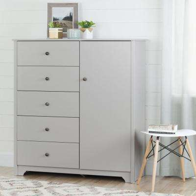 Vito Soft Gray Armoire