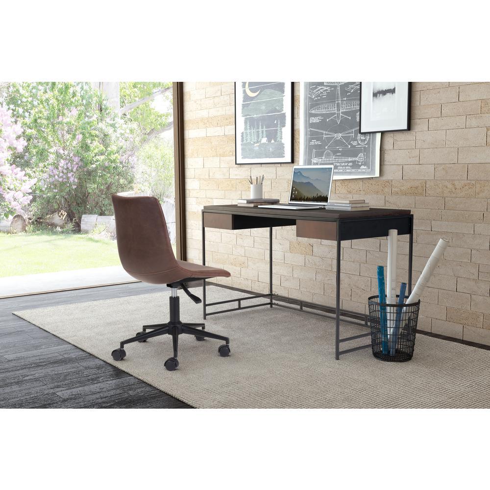 zuo studio espresso and metal desk. zuo studio espresso and metal desk  the home depot