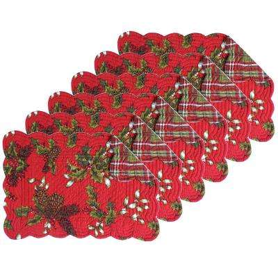 Kellyn Red Placemat (Set of 6)