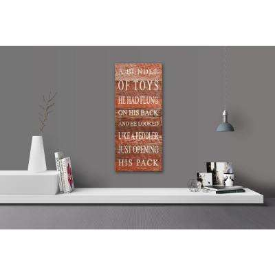 TWAS THE NIGHT BEFORE CHRISTMAS BUNDLE OF TOYS Reclaimed Wood Decorative Sign