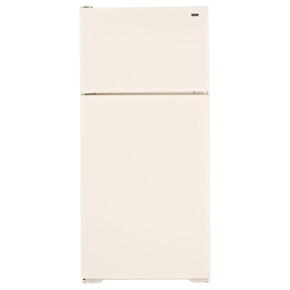 Hotpoint 28 in. W 15.6 cu. ft. Top Freezer Refrigerator in Bisque-DISCONTINUED