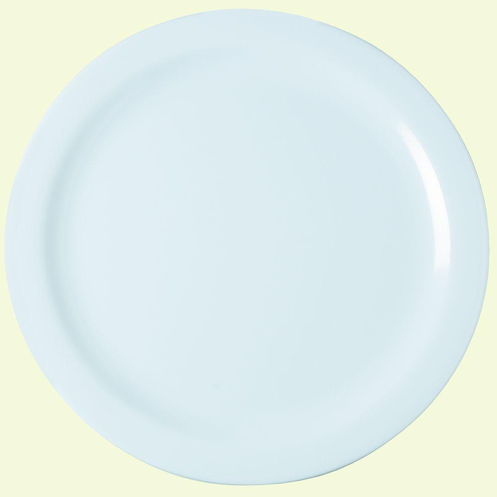 Diameter Melamine Dinner Plate in White (Case of 48) & Carlisle 9 in. Diameter Melamine Narrow Rim Dinner Plate in London ...