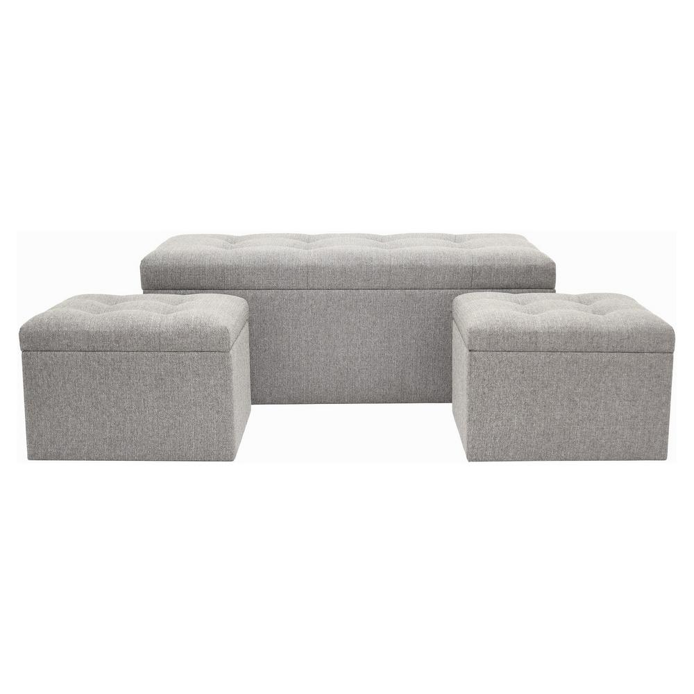 outlet vaughn storage bench gray benches living occasional product bachwich room