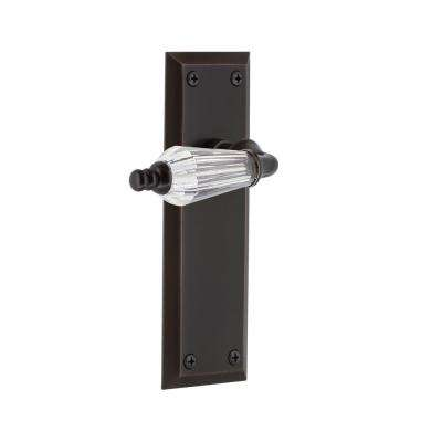 New York Plate 2-3/8 in. Backset Timeless Bronze Privacy Bed/Bath Parlor Lever