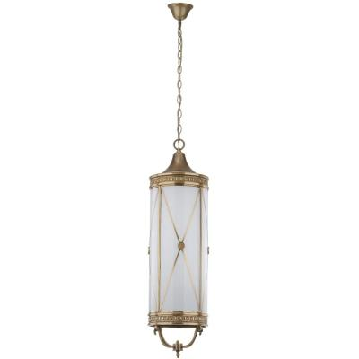Darby 6-Light Brass Large Pendant with Off-White Shade