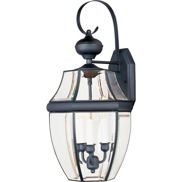 South Park 3-Light Black Outdoor Wall Lantern Sconce