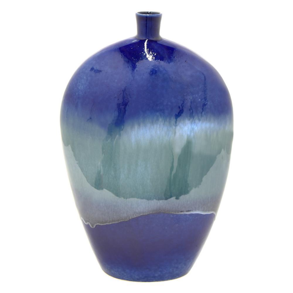 Blue Ceramic Decorative Vase