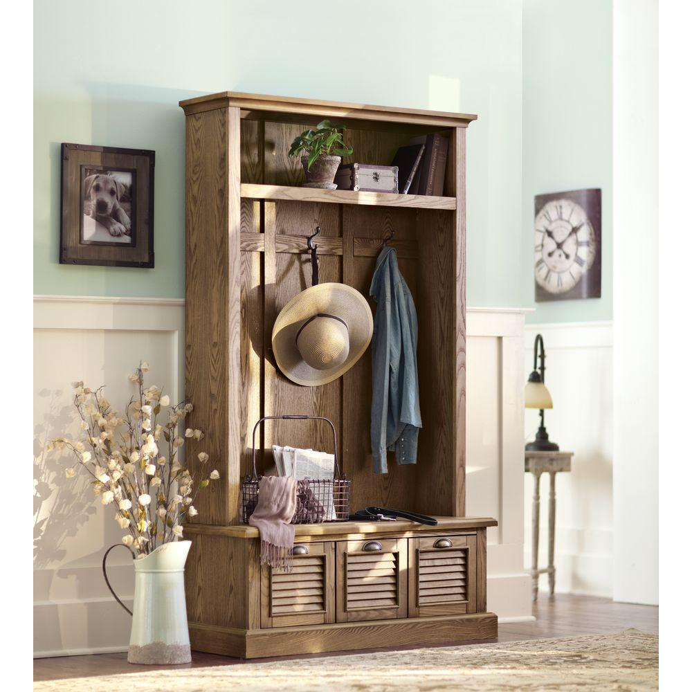 27 Promo Code For Home Decorators: Home Decorators Collection Shutter Weathered Oak Hall Tree
