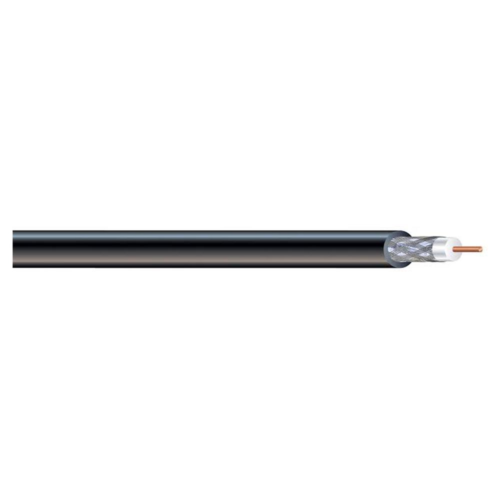 1000 ft. Black RG6 Dual Shield CM Coaxial Cable