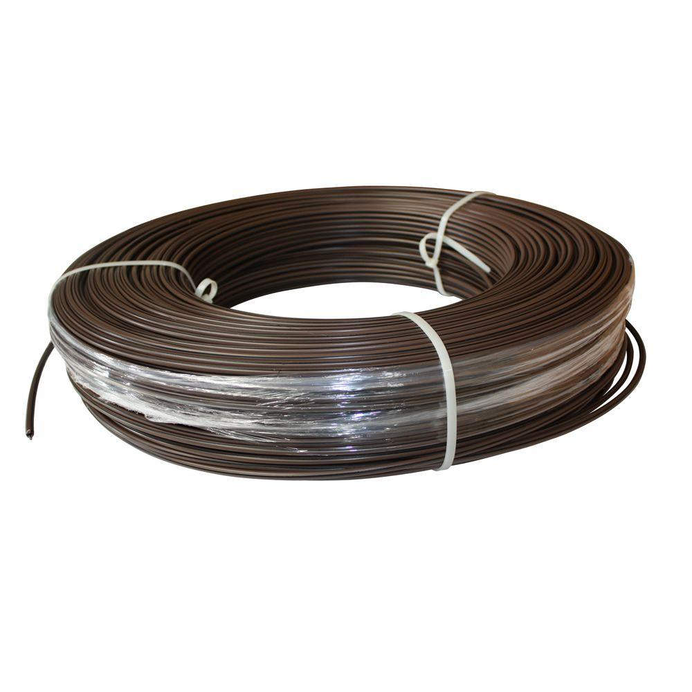 White Lightning 1320 ft. 12.5-Gauge Brown Safety Coated High Tensile Electric Fence Wire