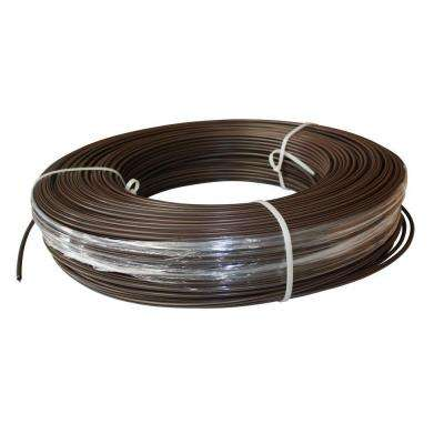1320 ft. 12.5-Gauge Brown Safety Coated High Tensile Electric Fence Wire