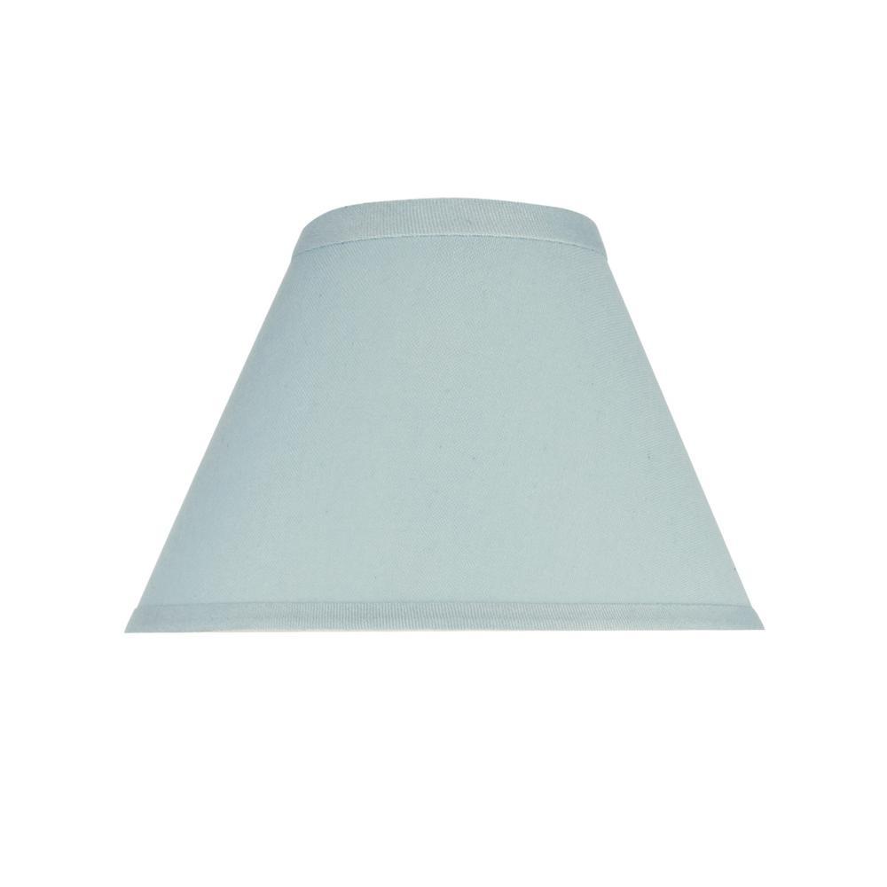 Aspen Creative Corporation 9 In X 6 1 2 In Light Blue Hardback Empire Lamp Shade 58728 The Home Depot