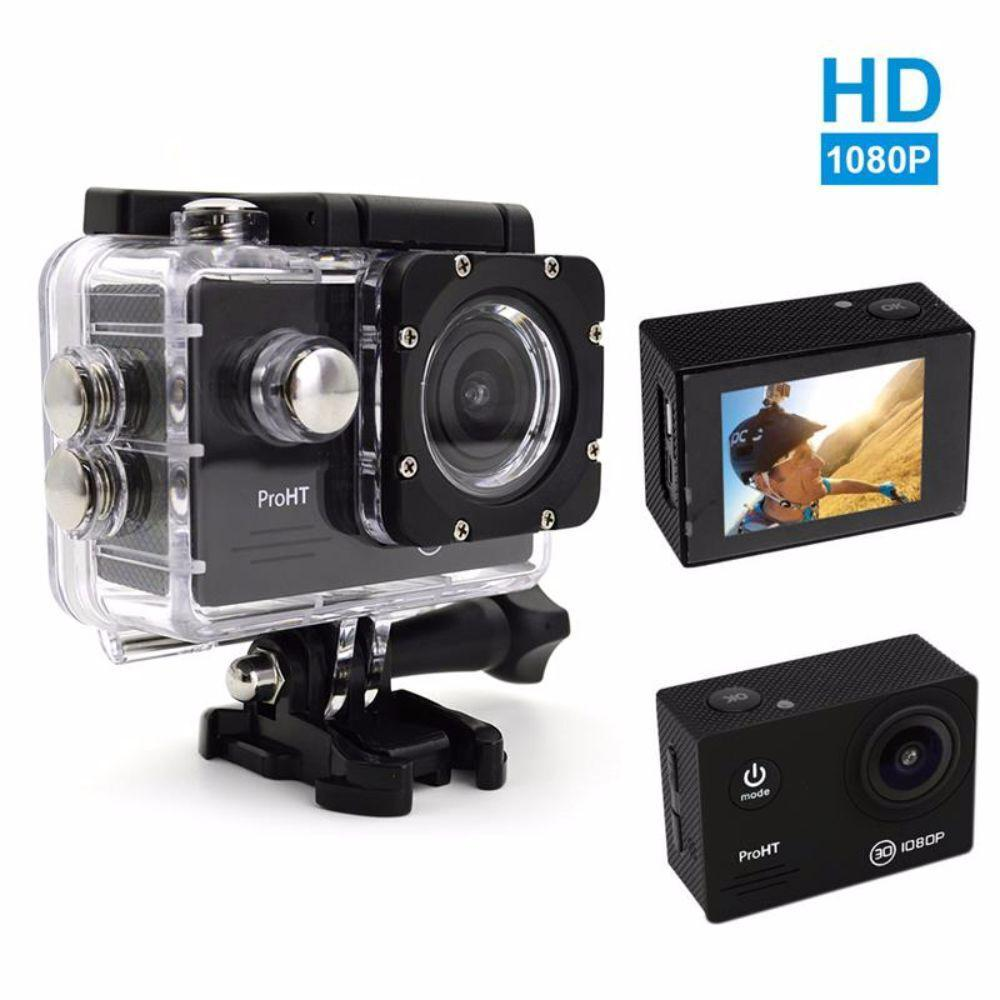 Proht 1080p Hd Waterproof Action Camera In Black 86302 The Home Depot