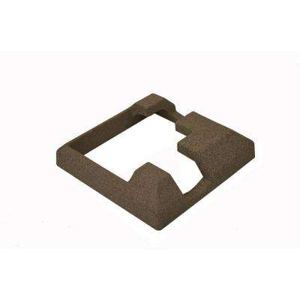 EcoStone 5 in. x 5 in. Composite Brown Fence Corner Post Concrete Bracket Skirt