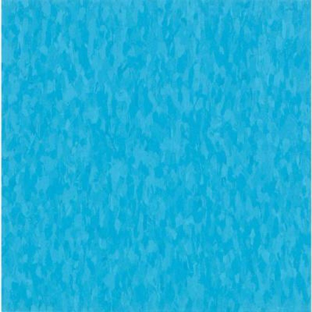 Armstrong Take Home Sample - Imperial Texture VCT Bikini Blue Commercial Vinyl Tile - 6 in. x 6 in.