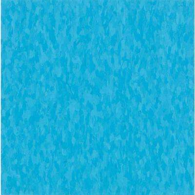 Take Home Sample - Imperial Texture VCT Bikini Blue Commercial Vinyl Tile - 6 in. x 6 in.