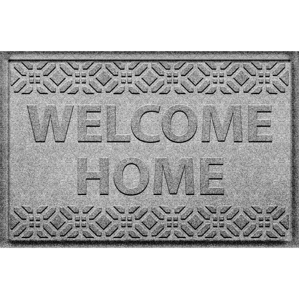 Welcome Home Medium Gray 24 in. x 36 in. Polypropylene Door Mat