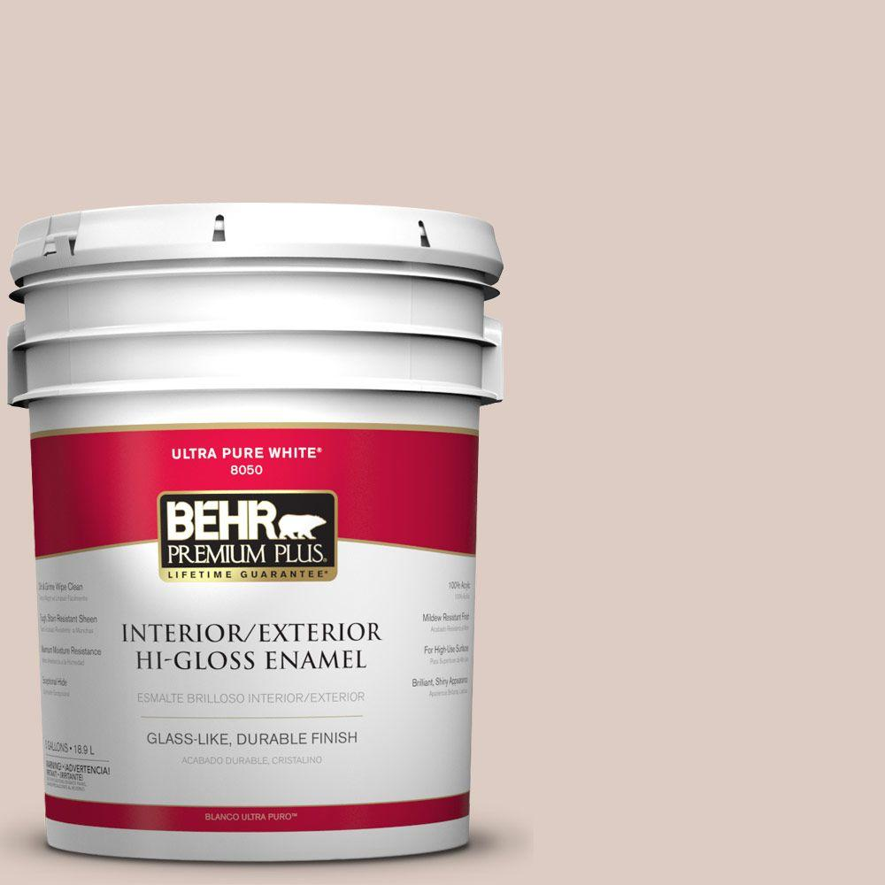 BEHR Premium Plus 5-gal. #N190-2 Stonewashed Brown Hi-Gloss Enamel Interior/Exterior Paint