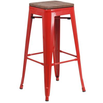 30 in. Red Bar Stool