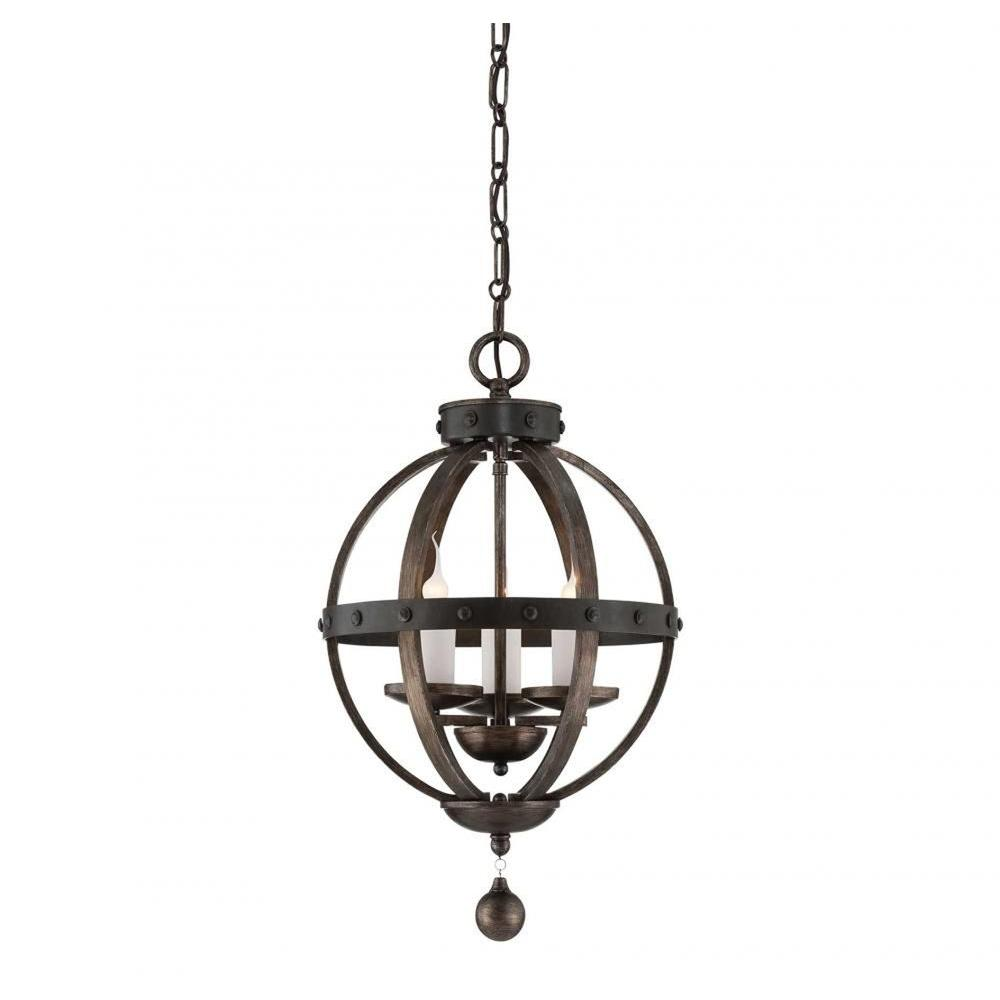 Illumine Aumbrie 3-Light Reclaimed Wood Pendant