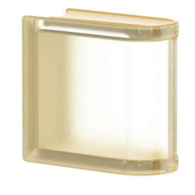 Vanilla 5.75 in. x 5.75 in. x 3.15 in. Classic Ivory End Linear Glass Block