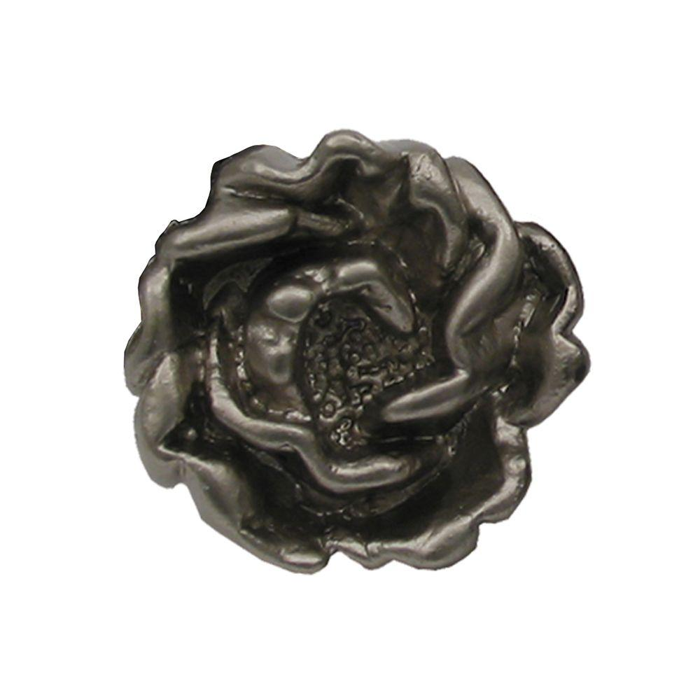 1-1/4 in. Satin Nickel Rosette Shaped Cabinet Hardware Knob
