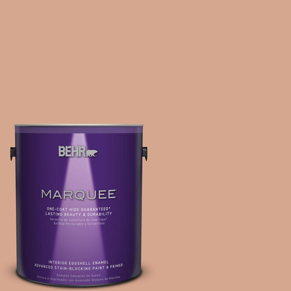 BEHR MARQUEE 1 gal. #MQ1-30 Peachy Confection One-Coat Hide Eggshell Enamel Interior Paint