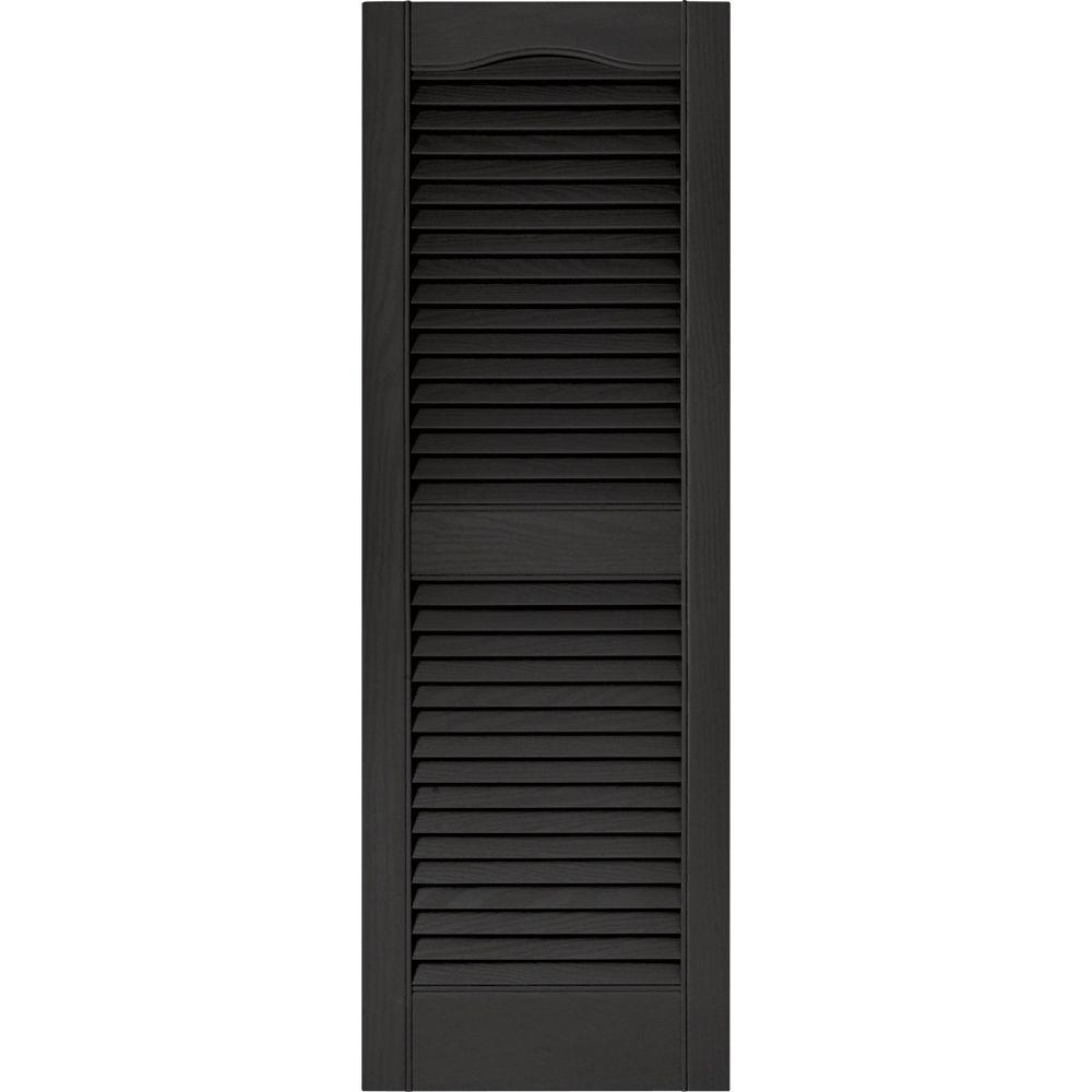 home depot exterior shutter hardware builders edge 15 in x 43 in louvered vinyl exterior
