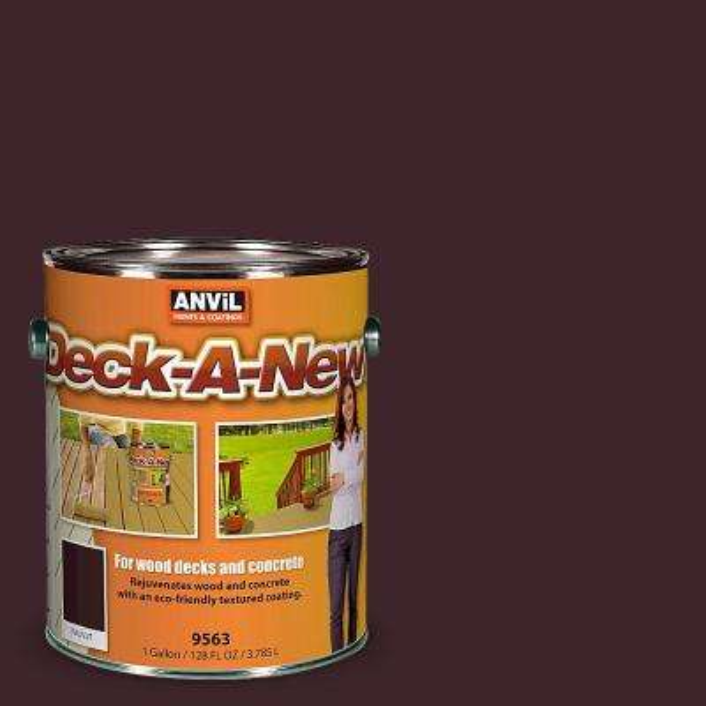 Deck-A-New 1-gal. Walnut Rejuvenates Wood and Concrete Decks Premium Textured Resurfacer
