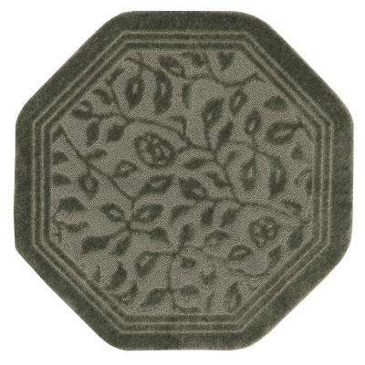 Wellington 6 ft. x 6 ft. Nylon Octagon Bath Rug in Sage Green