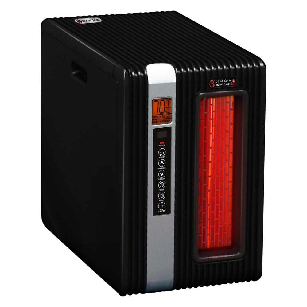 1,500-Watt Positive Thermal Coefficient Portable Heater with Remote and Built-In