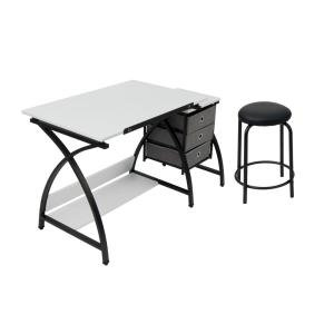 Outstanding Comet 50 In W X 23 75 In D X 29 5 In H Black White Mdf Bralicious Painted Fabric Chair Ideas Braliciousco